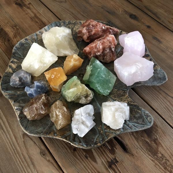setje ruw brok calciet mineralen